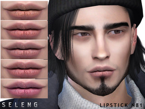 Sims 4 — Lipstick N81 by Seleng — Teen to Elder Female/male 10 colours Custom Thumbnail HQ mod compatible The picture was