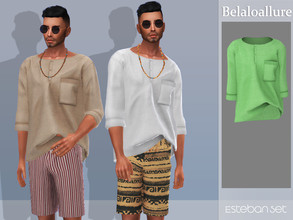 Sims 4 — Belaloallure_Estaban top by belal19972 — Simple beachwear top for your sims .