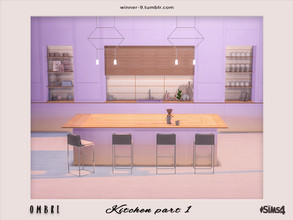 Sims 4 — Ombre Kitchen part 1 by Winner9 — This is first part of modern kitchen in tender ombre colors: pastel pink and