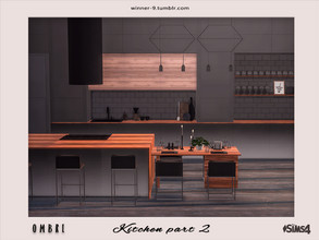 Sims 4 — Ombre Kitchen part 2 by Winner9 — Second part of modern kitchen in tender ombre colors: pastel pink and yellow,