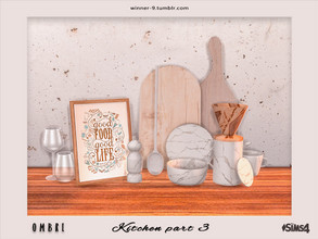 Sims 4 — Ombre Kitchen part 3 by Winner9 — The last part of modern kitchen in tender ombre colors: pastel pink and