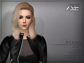 Sims 4 — Ade - Rexha Style 1 (Hairstyle) by Ade_Darma — New Hair mesh 47 Colors HQ Textures No morph Smooth Weight Works