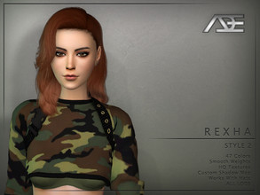 Sims 4 — Ade - Rexha Style 2 (Hairstyle) by Ade_Darma — New Hair mesh 47 Colors HQ Textures No morph Smooth Weight Works