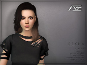 Sims 4 — Ade - Rexha Style 3 (Hairstyle) by Ade_Darma — New Hair mesh 47 Colors HQ Textures No morph Smooth Weight Works