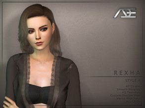 Sims 4 — Ade - Rexha Style 4 (Hairstyle) by Ade_Darma — New Hair mesh 47 Colors HQ Textures No morph Smooth Weight Works