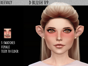 Sims 4 — D Blush V9 by Reevaly — 5 Swatches. Teen to Elder. For Female Works with all Skins and Overlays. Base Game