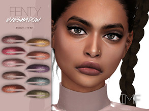 Sims 4 — IMF Fenty Eyeshadow N.162 by IzzieMcFire — Fenty Eyeshadow N.162 contains 10 colors in hq texture. Standalone