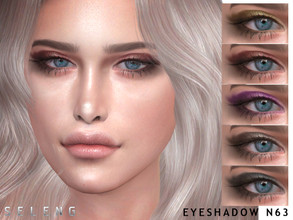 Sims 4 — Eyeshadow N63 by Seleng — Eyeshadow for female Teen to Elder 7 colours Custom Thumbnail HQ Compatible Happy