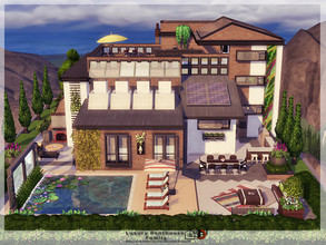 Sims 4 — Luxury Penthouse Family by Danuta720 — Luxury family house. Includes: - kitchen with dining room, - living room