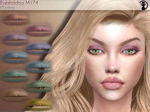 Sims 4 — Eyeshadow M174 by turksimmer — 10 Swatches Works with all of skins Custom Thumbnail Compatible with HQ mod All
