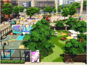 Sims 4 — Midtown Park by lotsbymanal — A small park to enjoy the outdoor activity...