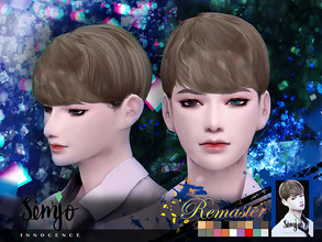 Sims 4 — Simjo_S1_Innocence(Remaster) by KIMSimjo — * New Hair Mesh(Alpha) * 18 Swatches(EA Colors Tag) * All LODs * Male