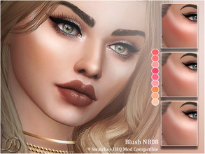 Sims 4 — Blush NB08 by MSQSIMS — - Base Game - Teen-Elder - Female - 9 Swatches - HQ Mod Compatible - Custom Thumbnail