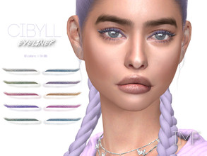 Sims 4 — IMF Cibyll Eyeliner N.106 by IzzieMcFire — Cibyll Eyeliner N.106 contains 10 colors in hq texture. Standalone