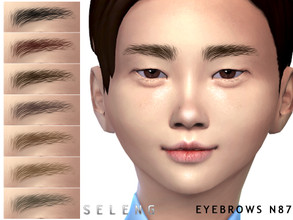 Sims 4 — Eyebrows N87 by Seleng — Female and Male Toddler / Child 10 colours Custom Thumbnail The picture was taken with