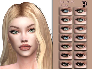 Sims 4 — Eyes M175 by turksimmer — 14 Swatches Works with all of skins Custom Thumbnail Compatible with HQ mod All ages
