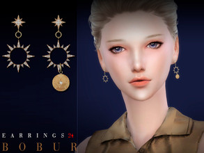Sims 4 — Bobur Earrings 24 by Bobur2 — Earrings for female 2 colors HQ I hope you like it