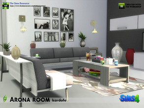 Sims 4 — kardofe_Arona room by kardofe — Set of eleven new meshes to decorate a modern style living room