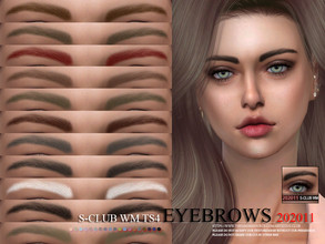 Sims 4 — S-Club WM ts4 Eyebrows 202011 by S-Club — Eyebrows 17 swatches, hope you like, thank you.