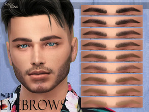 Sims 4 — [MH] Eyebrows N31 by MagicHand — --12 available colors-- --Compatible with HQ settings-- --CAS thumbnail--