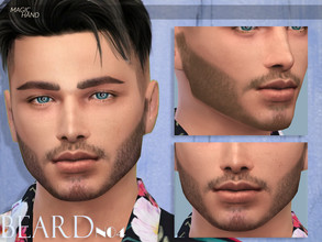 Sims 4 — [MH] Beard N04 by MagicHand — --12 available colors-- --Compatible with HQ settings-- --CAS thumbnail-- Enjoy!