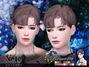 Sims 4 — Simjo_S1_Lullaby(Remaster) by KIMSimjo — * New Hair Mesh(Alpha) * 18 Swatches(EA Colors Tag) * All LODs * Male