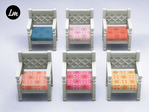 Sims 4 — Boho chair by Lucy_Muni — Wooden chair in 6 swatches Sims 4 basegame recolour