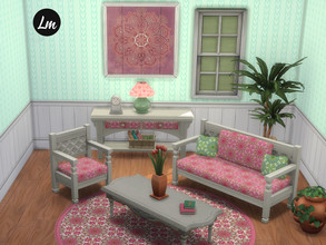 Sims 4 — Boho Living room by Lucy_Muni — A cute little set of Boho furniture, all obejcts are retextured from Sims 4