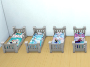 Sims 4 — Frozen beds for toddlers by Arisha_214 — Beds for little Frozen fans :)