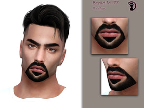 Sims 4 — Beard M177 by turksimmer — 8 Swatches Works with all of skins Custom Thumbnail Compatible with HQ mod Teen to