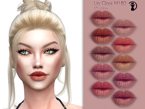 Sims 4 — Lip Gloss M180 by turksimmer — 10 Swatches Works with all of skins Custom Thumbnail Compatible with HQ mod All
