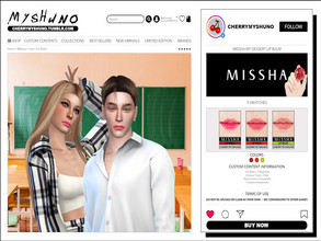 Sims 4 — MISSHA My Dessert Lip Balm by cherrymyshuno — - 3 swatches - teen - elder - base game compatible - custom