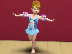 Sims 4 — Frozen swimwear set for toddlers by Arisha_214 — Swimwear Frozen set for little princesses :)