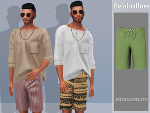 Sims 4 — Belaloallure_Estaban shorts by belal19972 — Simple and comfy shorts for your sims ,enjoy :)