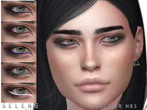 Sims 4 — Eyeliner N83 by Seleng — Female Teen to Elder 6 swatches Custom Thumbnail HQ compatible The picture was taken