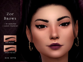 Sims 4 — Zoe Eyebrows - Eva Zetta by Eva_Zetta — A natural, lightly groomed pair of brows for your sims. - Comes in 18