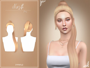 Sims 4 — EnriqueS4 - North Hairstyle by Enriques4 — New Mesh 18 EA Swatches All Lods Base Game Compatible Teen to Elder