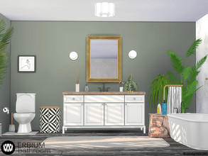 Sims 4 — Erbium Bathroom by wondymoon — Erbium Bathroom! Have fun! - Set Contains * Bathroom Sink * Bathroom Mirror *