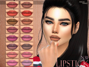 Sims 4 — [MH] Lipstick N31 by MagicHand — --18 available colors-- --Compatible with HQ settings-- --CAS thumbnail--