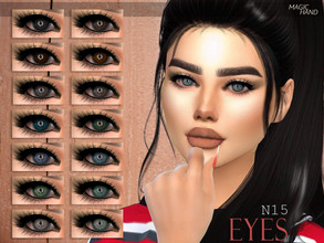 Sims 4 — [MH] Eyes N15 by MagicHand — --15 available colors-- --Compatible with HQ settings-- --CAS thumbnail-- Enjoy!