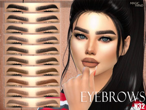 Sims 4 — [MH] Eyebrows N32 by MagicHand — --12 available colors-- --Compatible with HQ settings-- --CAS thumbnail--