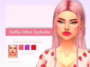 Sims 4 — Chalky Colour Eyeshadow by LadySimmer94 — BGC 3 swatches Custom Thumbnail (as seen on the ad) Teen / Elder Male