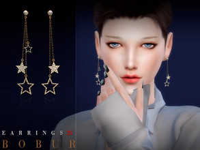 Sims 4 — Bobur Earrings 25 by Bobur2 — Earrings for female 4 colors HQ I hope you like it