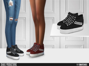 Sims 4 — ShakeProductions 526 - Sneakers by ShakeProductions — Sneakers New Mesh All LODs Mesh by me 11 Swatches