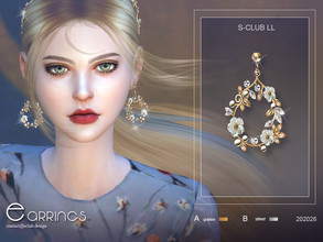 Sims 4 — S-Club ts4 LL EARRINGS 20226 by S-Club — Fairy accessories---- earrings, hope you like, thank you.