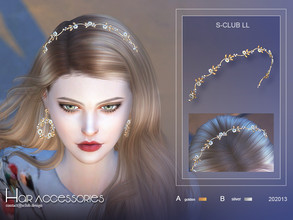 Sims 4 — S-Club LL ts4 Hair Accessories 202013 by S-Club — Fairy hair accessories hope you like, thank you. Classified in