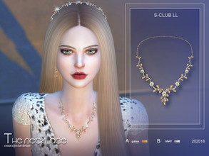Sims 4 — S-Club ts4 LL Necklace 202018 by S-Club — Fairy diamond necklace, hope you like, thank you.
