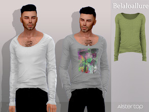 Sims 4 — Belaloallure_Alister top by belal19972 — Simple half tucked in top for your sims , enjoy :)