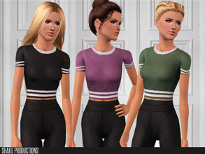Sims 3 — ShakeProductions-S3-100 by ShakeProductions — Top Recolorable