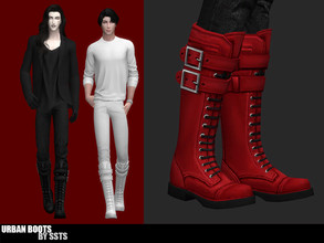 Sims 4 — URBAN BOOTS by SSTS by strange_storyteller — - EA mesh edit and retexture - Teen to Elder - Boots - Everyday,